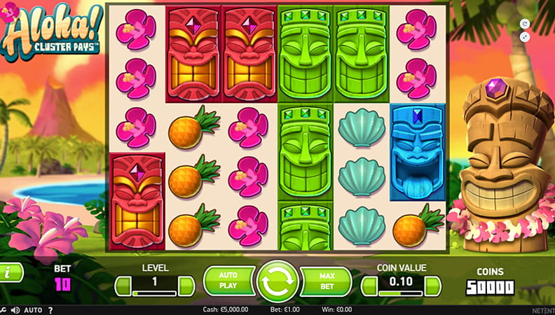 NetEntS New Slot Machine Aloha Cluster Pays