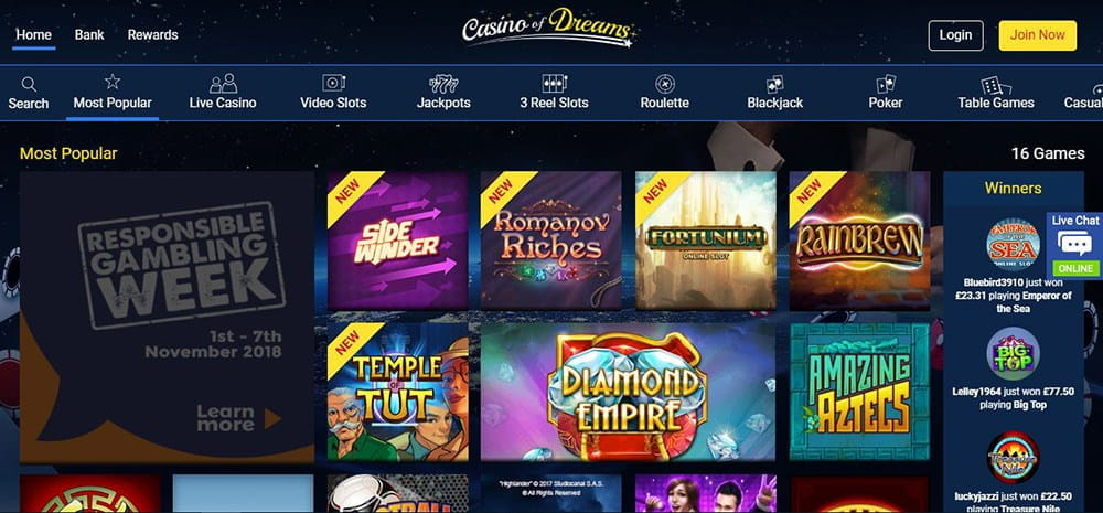 Casino Of Dreams Reviews