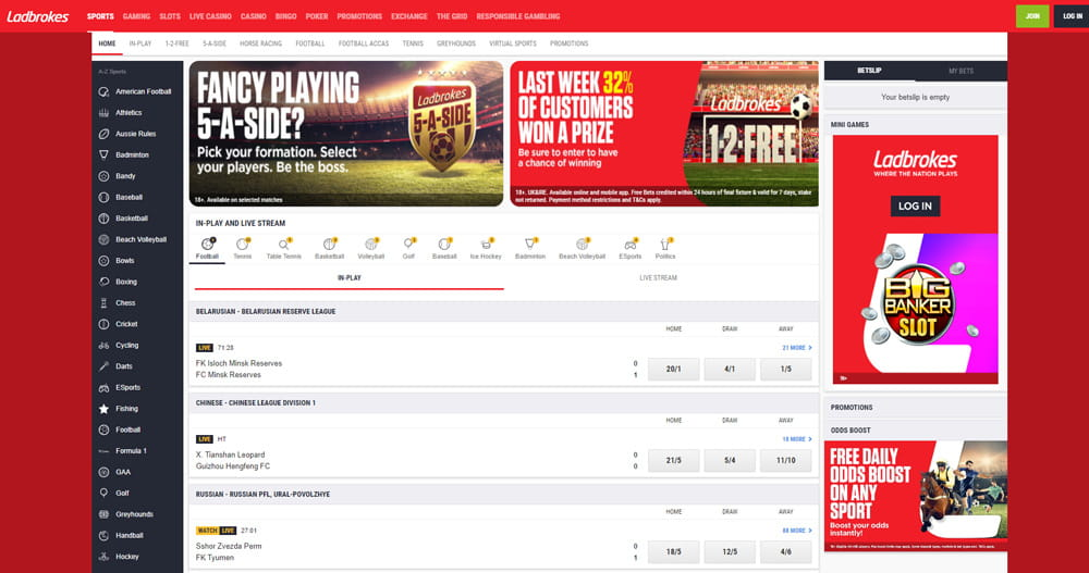 Ladbrokes in running betting on sports afl betting predictions nfl