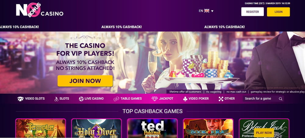 No Casino Bonus