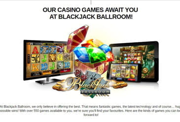 Thumbnails of Games at Blackjack Ballroom Casino