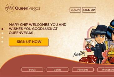 queen vegas casino uk